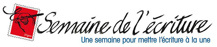Logo de la semaine de l'écriture