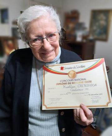 Kathleen Crenshaw, 99 ans. Résistante et doyenne du concours 2020